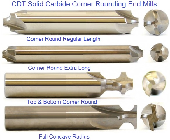 Corner Rounding End Mills Carbide