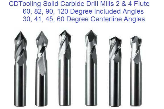 Drill Mill 60 82 90 120 Degree Solid Carbide DrillMill
