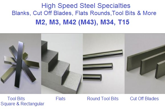 Tool, Bits, Blanks, Blades, Flats, Rounds