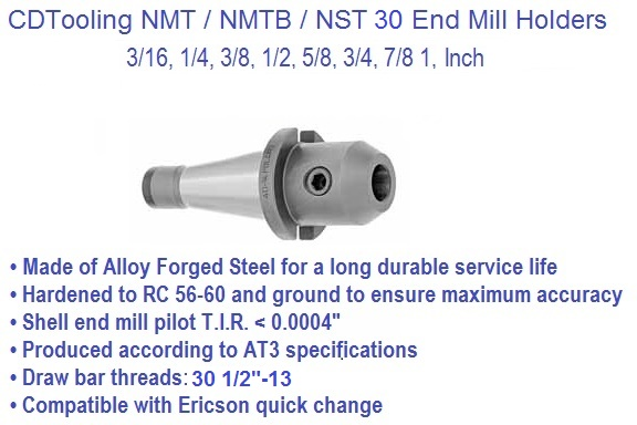 NST30, NMTB30, End Mill Holders