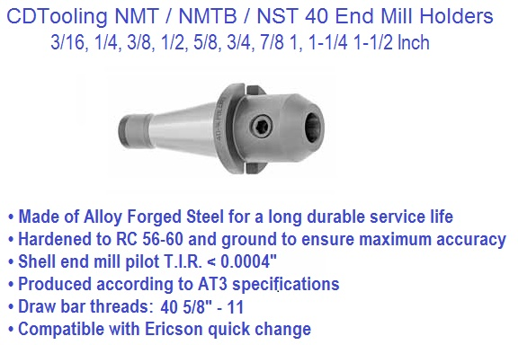 NST40, NMTB40, End Mill Holder