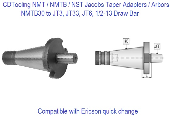 NST30, NMTB30 Jacobs Adapters / Chuck Arbors