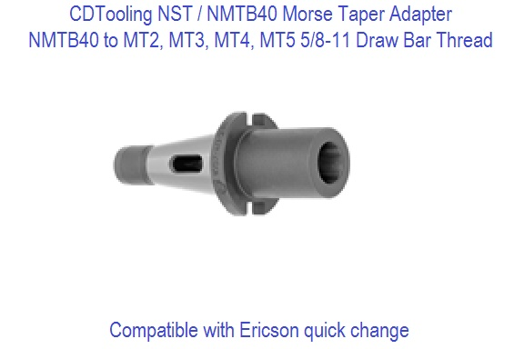 NST40 NMTB40 to Morse Taper MT Adapters