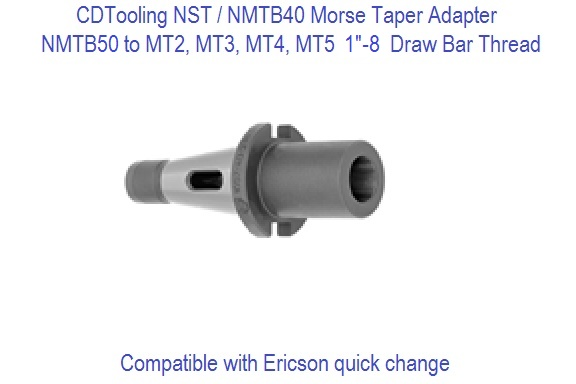 NST50 NMTB50 to Morse Taper MT Adapters