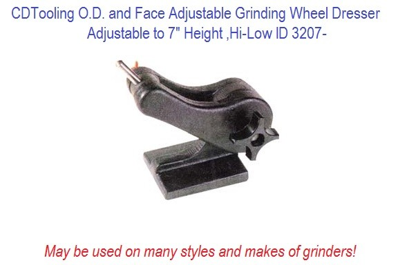 O.D. and Face Adjustable Grinding Wheel Dresser Hi-Low ID 3207-
