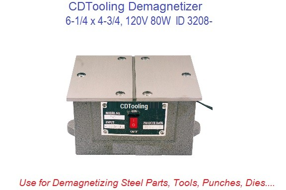 6-1/4 x 4-3/4, 120V 80W Demagnetizer for Tools Cutters, Punches ID 320