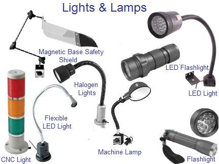 Lighting, Inspection, Machine Lights, Flashlights, Machine Light Lamps, Saftey Shields