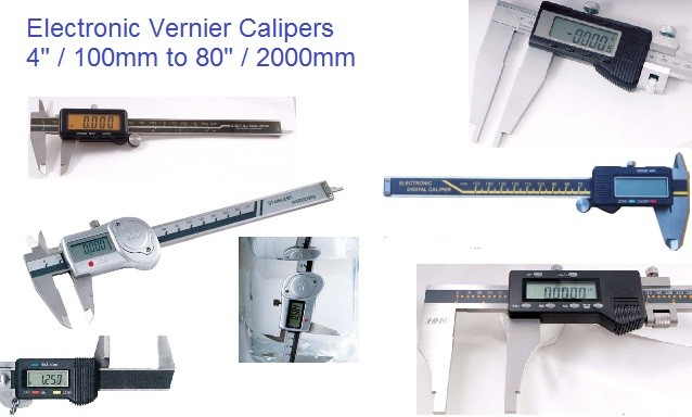 4,6,8,12,20,24,36,48,60,80 Inch, Metric Electronic Vernier Calipers