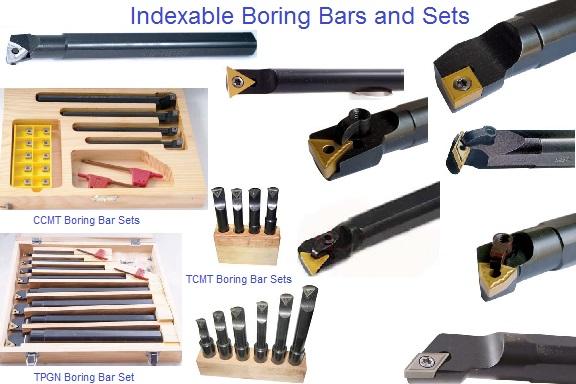 Boring Bar Insert : Boring bars indexable carbide individual and sets insert