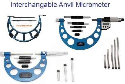 Micrometers Interchageable Anvil 0-4,0-6, 6-12,12-16,16-20,20-24,24-28,28-32,32-36,36-40