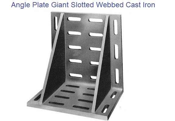 Angle Plate Giant Slotted Webbed Cast Iron 16 to 24 inch