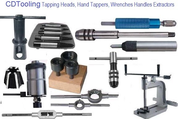 Tap Accessories Tapping Heads, Hand Tappers, Wrenches and Handles Extractors