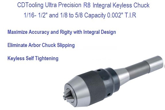 R8 Ultra Precision Keyless Drill Chuck 1/2, 5/8 Capacity Series 2627