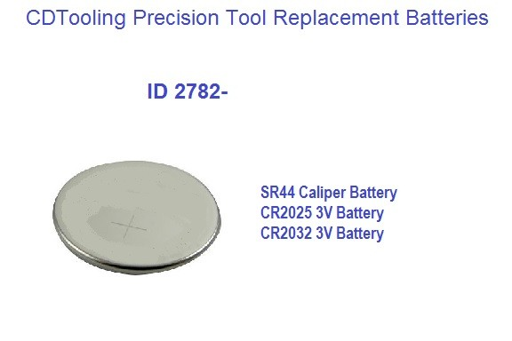 Coin Battery for use with Electronic Measuring Instruments SR44, CR2025, CR2032 ID 2782
