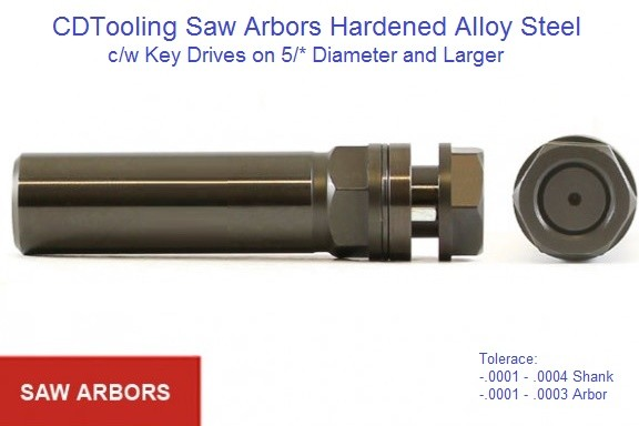 Saw Arbors for Carbide and High Speed Steel, Saws and Blades