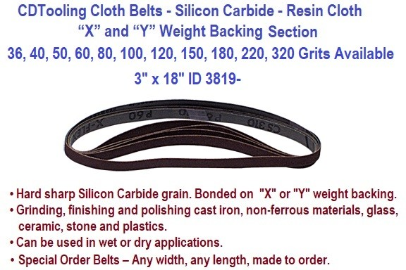 Abrasive Cloth Belts Silicon Carbide Grinding Sanding