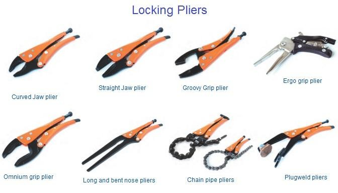 Locking Pliers Curved, Striaght Jaw, Groove, Omnium, Long Nose ,Chain. Weld Style