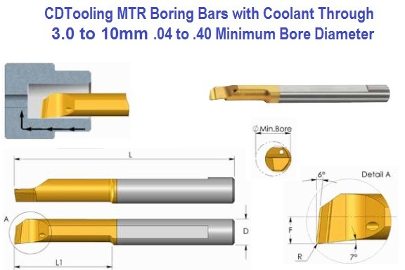 Boring Bar MTR Carbide Tiny With Through Coolant