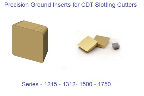 1215, 1312, 1500, 1750 Series Carbide Inserts CDT Slotting Cutters, Keyseat Cutters,T-Slot Cutters