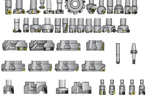 Milling Cutters Indexable End, Face, Shoulder ,High Feed Mills, Special Purpose