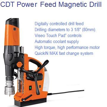 3-1/8 80mm Power Feed Magnetic Drill JCM312-AUTO