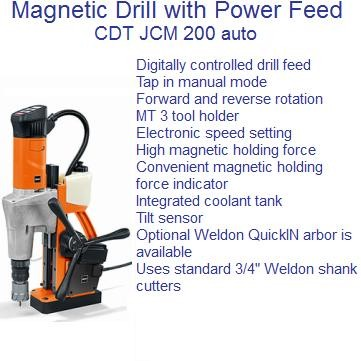 Magnetic Drill Fully Automatic  JCM 200 AUTO 2