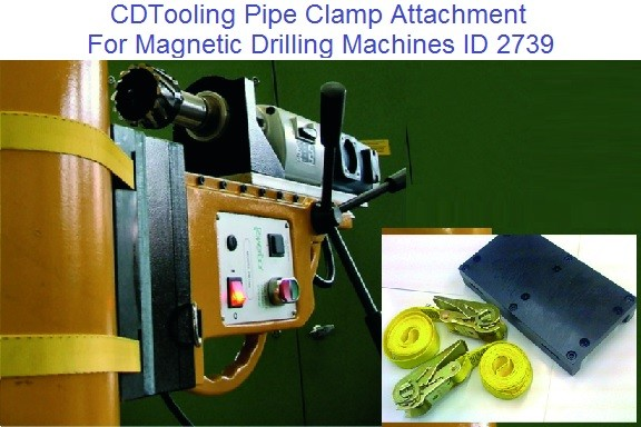 Strap Pipe Clamp Adapter, for Magnetic Drilling Machines, ID 2739