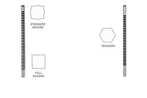Broach: Keyway Hexagon and Square One Pass Inch and Metric Sizes