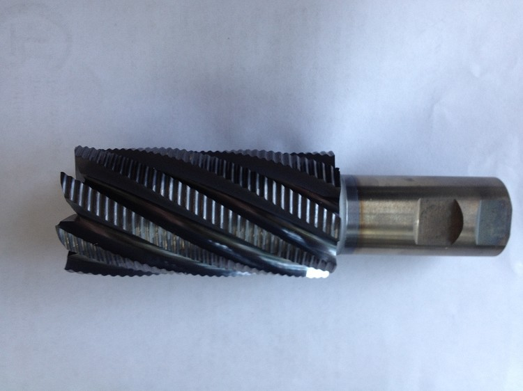 End Mill: 2 x 4 x 1-1/4 x 6-1/2 8 Flute Cobalt Roughing End Mills Re-Manufactured