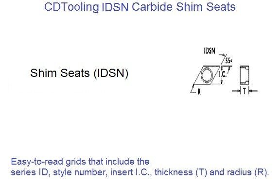 IDSN Carbide Shim Seats for Indexable Tooling 10 Pack