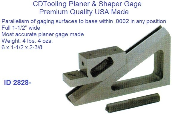 Planer and Sharpener Gage 6 x 1-1/2 x 2-3/8
