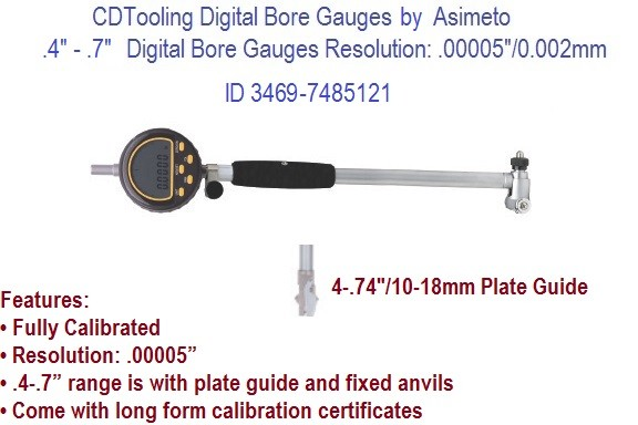 .4  to .7 Inch Digital Bore Gauges ID 3469-7485121