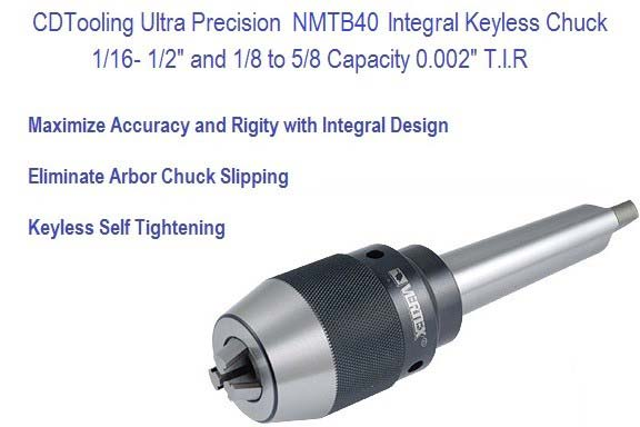 MT3, MT4 Ultra Precision Keyless Drill Chuck 1/2, 5/8 Capacity Series 2626
