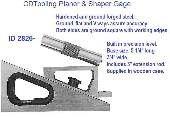 Planer and Sharpener Gage 6-1/4 Maximum Range 3/4 x 5 Base ID 2826