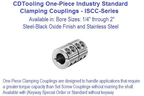One Piece Clamping Coupling 1/4 through 2 inch ISCC-Series