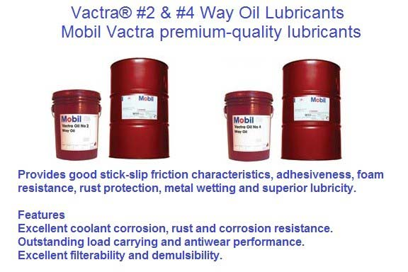 Way Oil Lubricant Vactra Mobil Number 2 and 4 Mobil