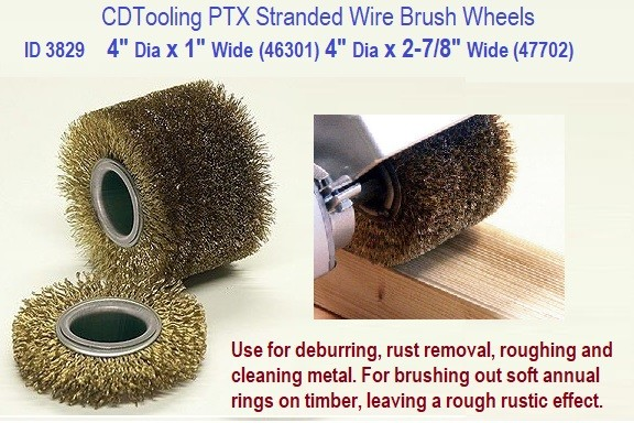 4 Inch Diameter Wire Wheel Drum Brush 2-7/8 or 1 Inch PTX Linear Finishing Wide ID 3829