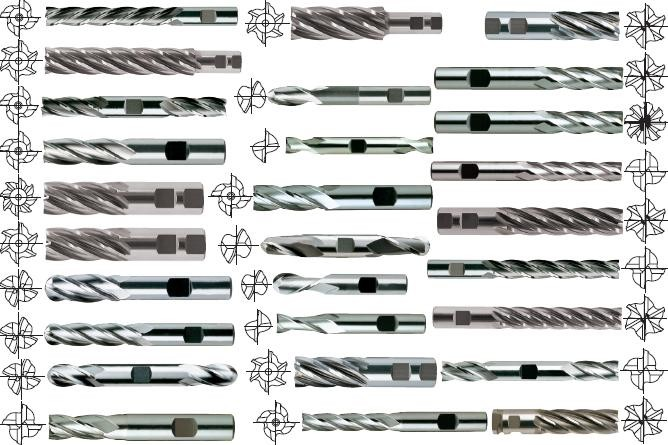 End Mill 2, 3, 4, 5, 6, 8 Flute Single End, Double End HSS, Cobalt