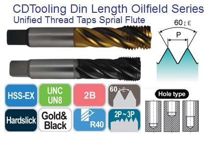 Spiral Flute Taps for Modified Bottoming Style for Stainless Steel up to 35HRc Oil Field