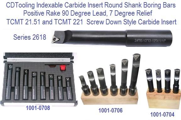 Carbide Shank Boring Bars : Boring bar indexable carbide round shank inch