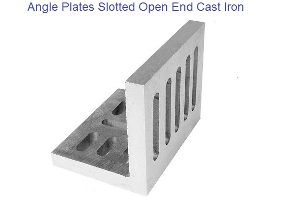Angle Plates Slotted, Open End Style Cast Iron 6 to 12 inch
