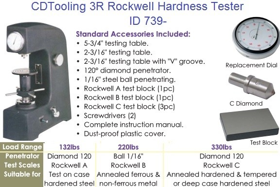 3R Rockwell Hardness Tester ID 739-8902-0150