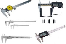 "Vernier Caliper, Dial, Digital, Electronic,4"",6"",8"",12"",18"",24"",36"",40"",60"",80"",120"" Inch & Metric"