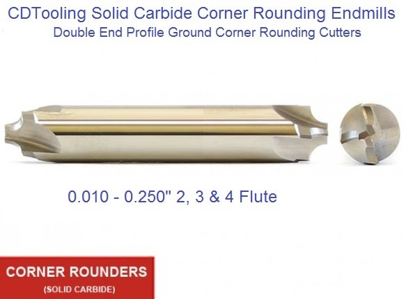 Carbide Corner Rounding End Mills Double End From 0 010