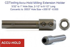 Accu Hold End Mill Holder Extension Hi Precision 3/32 - 1""
