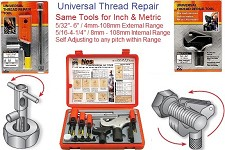"Universal Rethreading Sets starting as small as 5/32"" as large as 6"" DIameter Any Pitch, Inch Metric Left & Right Hand"