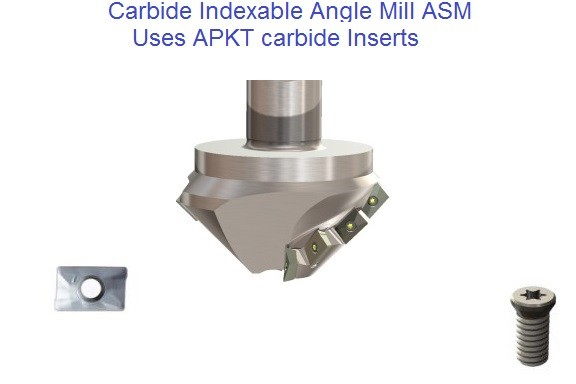 Carbide Indexable ASM Angle Mills uses APKT Indutry Standard Insert
