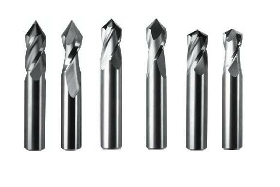 End Mill: Drill Mill Solid Carbide End Mills 2 & 4 Flute, 60, 82, 90, 120, Degree