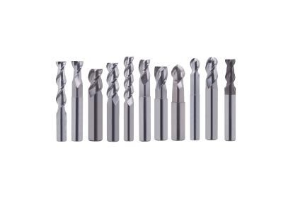 End Mill: Carbide High Performance Aluminum Cutting Square, Radius And Ball End