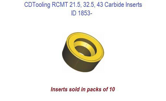 RCMT 21.5, 32.5, 43 Carbide Inserts ID 1853-